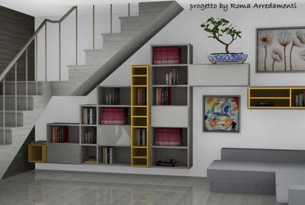 soggiorno-sottoscala-mansarda-roma