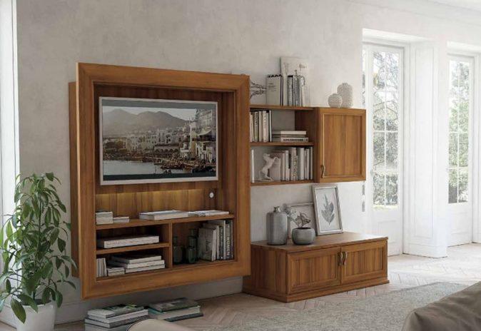 Porta Tv con cornice Roma | Roma Arredamenti