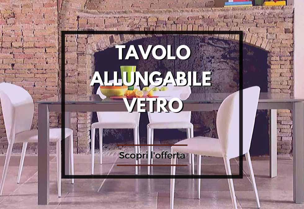 Tavolo Allungabile Offerte Roma.Tavolo Allungabile In Vetro Vari Modelli Roma Arredamenti