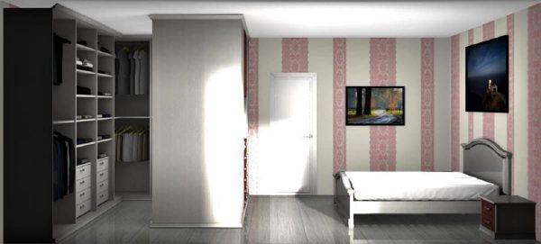 camera classica con cabina armadio